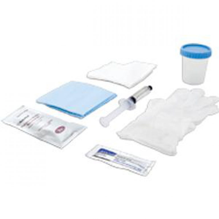 Foley Catheter Insertion Tray with 10 mL Pre-Filled Syringe